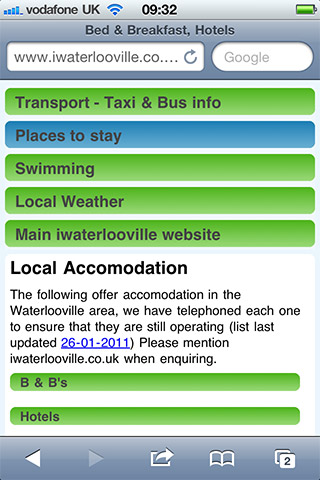 Waterlooville Accomodation from the mobile website